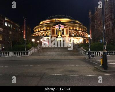 The royal Albert Hall at night - Stock Photo