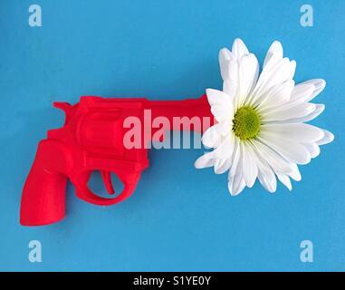 Conceptual: gun control in the United States. - Stock Photo