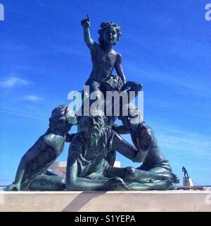 L'Espoir, sculpture of Nella Buscot, Port of Palavas-Les-Flots, Occitanie France - Stock Photo