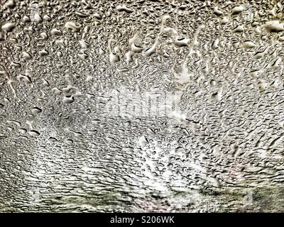 Drops of water on glass - Stock Photo