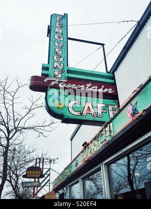 Famous Ferguson's Fountain Cafe in Spokane WA - Stock Photo