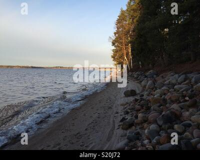 Kuortane Lake at the end of Autumn. Finland. - Stock Photo