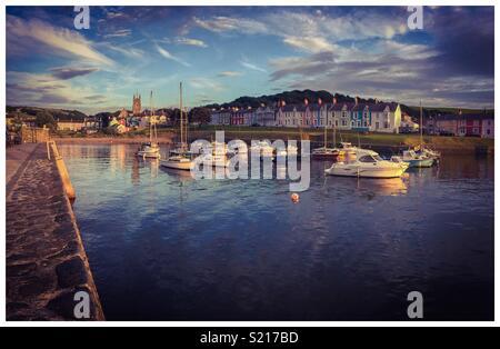 Aberaeron Harbour West Wales - Stock Photo