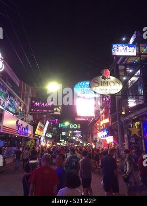 Walking Street, Pattaya, Thailand - Stock Photo
