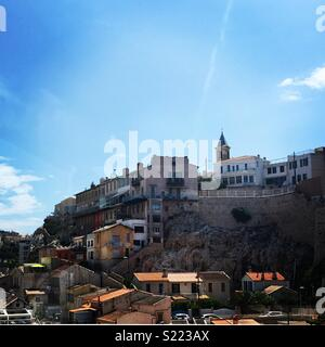 Shanty town in Marseille, France - Stock Photo