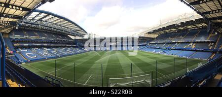 Panorama from the Shed End of Stamford Bridge - Stock Photo