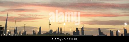A nice view of Dubai downtown - Stock Photo