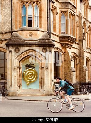 Corpus Chronophage Clock in Cambridge; grasshopper clock, time flies - Stock Photo