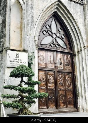 St Joseph's Cathedral, Hanoi, Vietnam - Stock Photo
