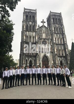 St Josephs Cathedral, Hanoi, Vietnam - Stock Photo