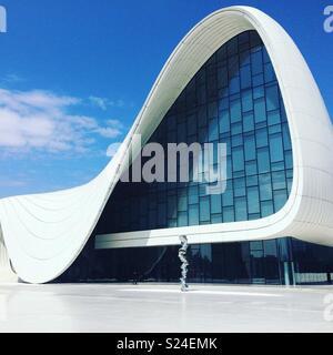 Heydar Aliyev Center, Baku, Azerbaijan - Stock Photo