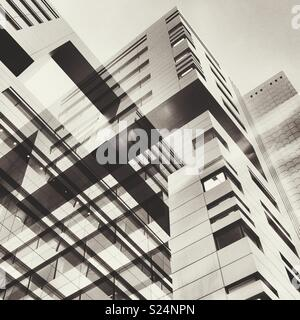 Abstract of city buildings - Stock Photo