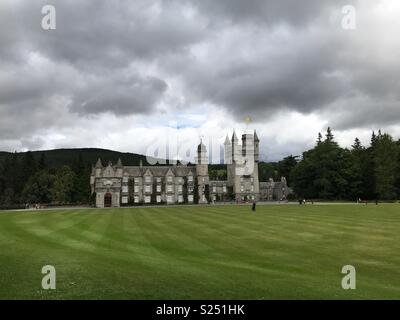 Balmoral castle in Aberdeenshire, Scotland. - Stock Photo