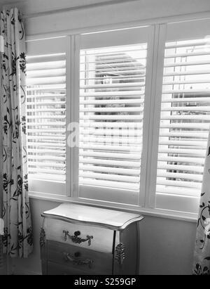 White indoor shutters - Stock Photo