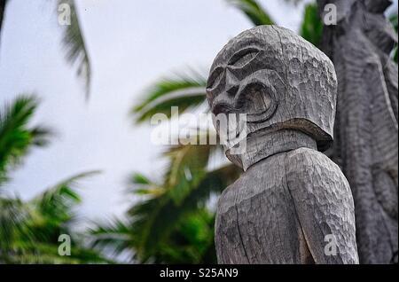 Tiki, Pu'uhonua o Honaunau - Stock Photo