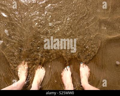 Four foot under water - Stock Photo