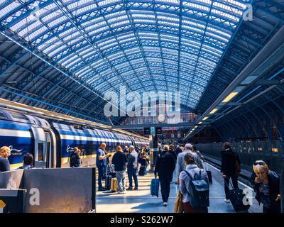 King's Cross Station in London - Stock Photo