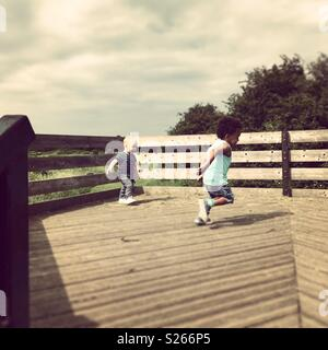 Now playing at wat Tyler country park Essex Basildon UK - Stock Photo