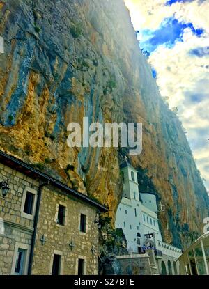 Ostrog monastery in Montenegro. - Stock Photo