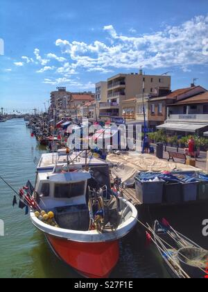 The port of Palavas-Les-Flots, Occitanie France - Stock Photo