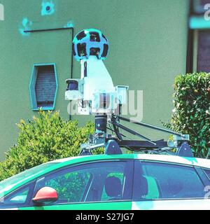 Google camera in street view car mapping device - Stock Photo
