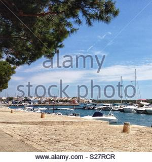 Boats in harbour Porto Colom Mallorca - Stock Photo
