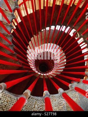 Spiral staircase in Ljubljana Castle, Slovenia - Stock Photo