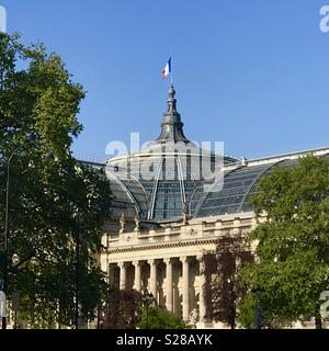 View of the Grand Palais from the Champs Elysées. Paris, France. - Stock Photo