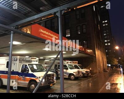 Waiting for the call at Columbia University / New York Presbyterian Hospital - Washington Heights, NYC - Stock Photo