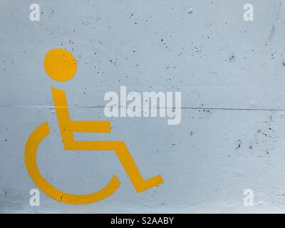 Disabled access sign - Stock Photo