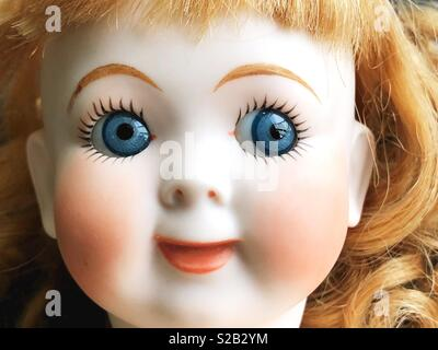 Close up of doll face. - Stock Photo