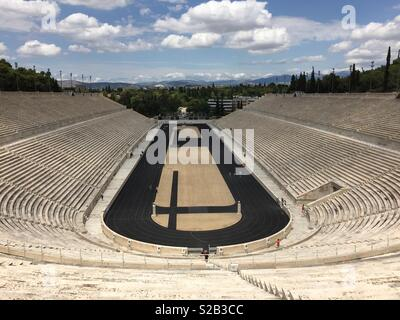 Kalimarmaro stadium in Athens, Greece - Stock Photo