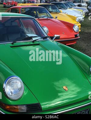 Porsche display, Over the Road, at the Goodwood Revival 2018. - Stock Photo
