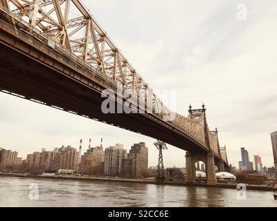 Ed Koch Queensboro bridge in New York - Stock Photo