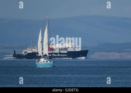 Sailing on the River Clyde - Stock Photo