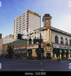 A corner in Downtown Reno, Nevada, United States - Stock Photo
