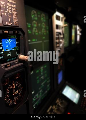 A320 Instrument Panel - Stock Photo