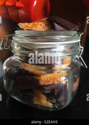 Home made orangettes - Stock Photo