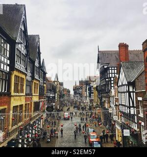 Chester at Christmas - Stock Photo