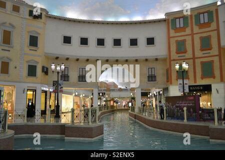 a breath-taking mall in Qatar, Villaggio Mall - Stock Photo