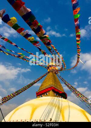Bodhnath Stupa, Kathmandu, Nepal. - Stock Photo