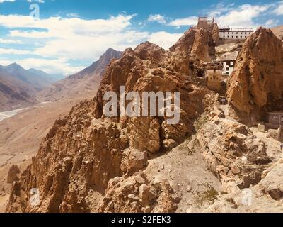Monastery in Spiti Valley, Himachal Pradesh, India - Stock Photo