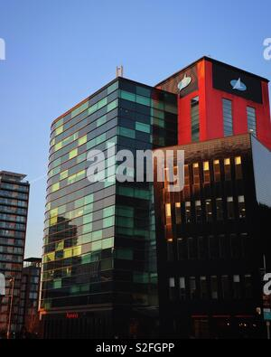 Buildings around Lowry outlet mall in Media City, Salford - Stock Photo