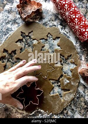 Holiday baking - Stock Photo