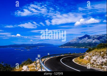 Sea view from the road - Stock Photo
