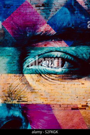 Arte do muralista Kobra. - Stock Photo