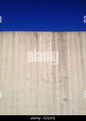 Concrete wall with imprint of shuttering  boards - Stock Photo