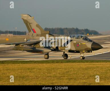 Royal Air Force Panavia Tornado GR4 ZG752 wearing a 1980s colour scheme for the Tornados impending retirement at the end of March 2019, after more than 40 years of impeccable service. - Stock Photo
