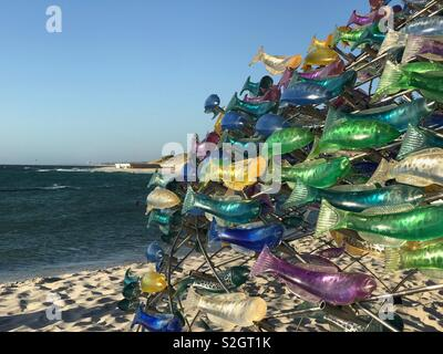 Sculpture by the sea at Cottesloe Beach, Western Australia - Stock Photo