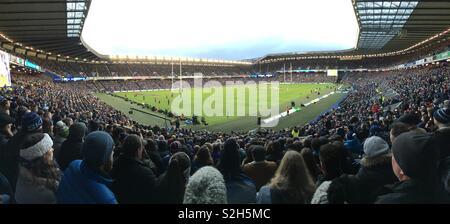 Murrayfield stadium during the Autumn Rugby Union Internationals - Scotland vs Argentina 2018 - Stock Photo